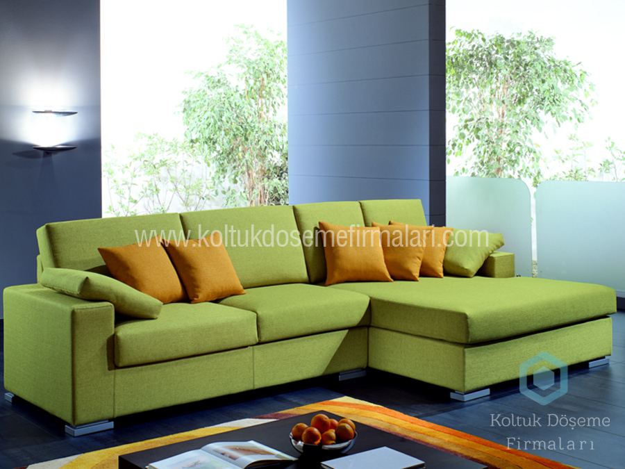 Yeşil Köşe Koltuk Modeli özel ölçü köşe koltuk takımı